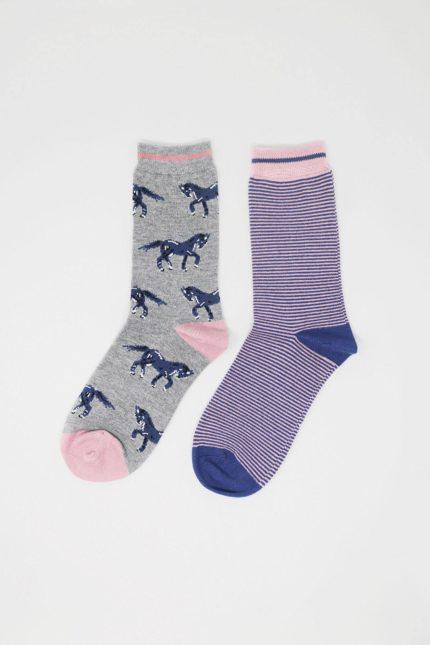 Thought dárkové dvojbalení dámských ponožek luna horse