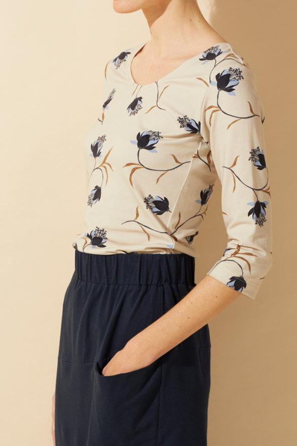 Lana top ewa magnolia z bio bavlny
