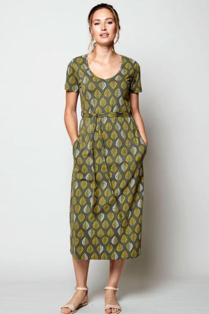 Nomads midi šaty solitaire zelené