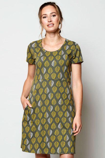 Nomads tunikové šaty solitaire zelené z bio bavlny