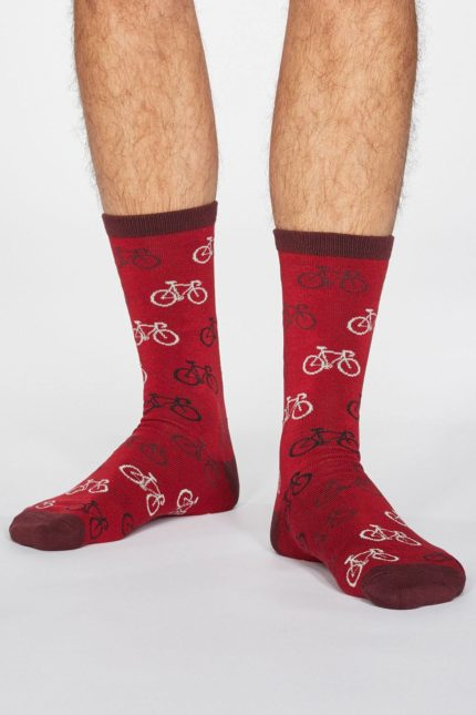 Thought pánské bambusové ponožky zachary bicycle černé