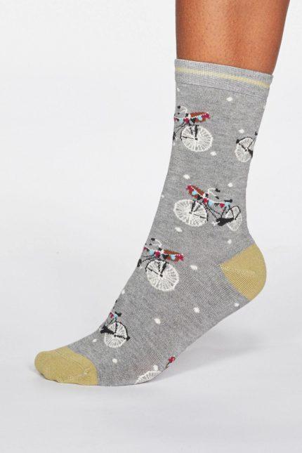 Thought dámské bambusové ponožky gladys bicycle modré