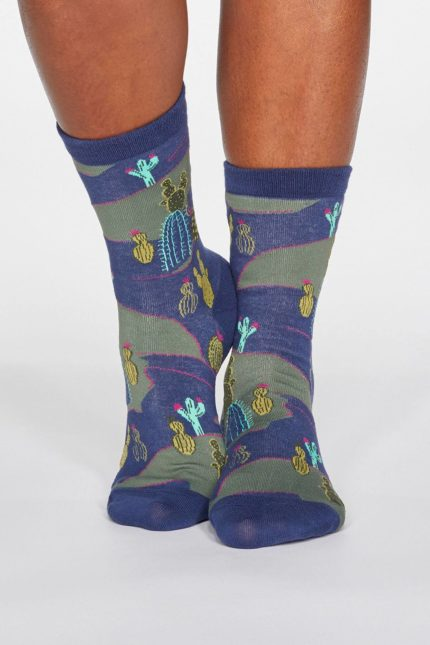 Thought dámské ponožky ettie cactus modré