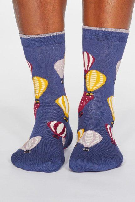 Thought dámské bambusové ponožky louise air ballon modré