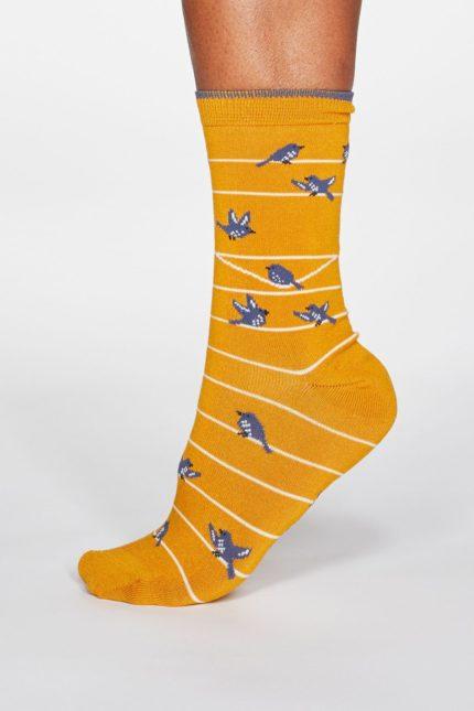 Thought dámské bambusové ponožky vivian bird modré