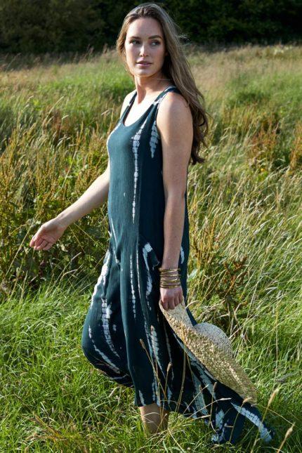 Nomads batikované šaty charcoal