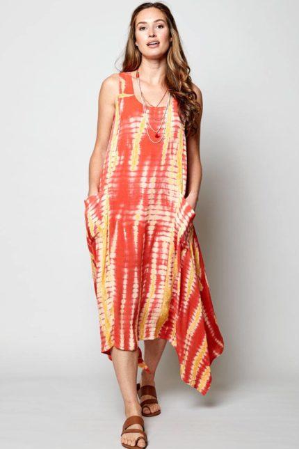 Nomads batikované šaty sunset
