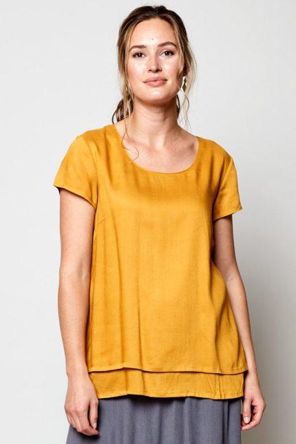Nomads vrstvený top žlutý