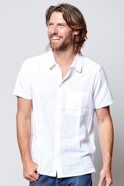 Nomads pánská košile s krátkým rukávem white