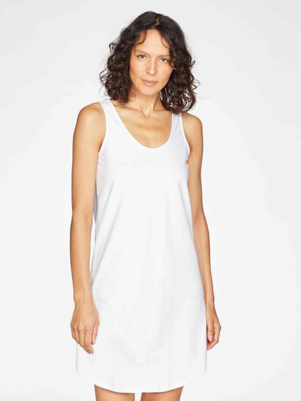 Thought noční košilka leah bílá z bio bavlny