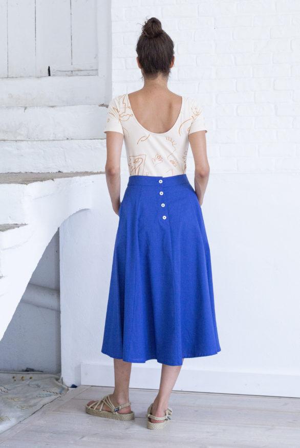 laurel skirt mazarine blue back