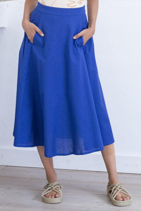 laurel skirt mazarine blue detail
