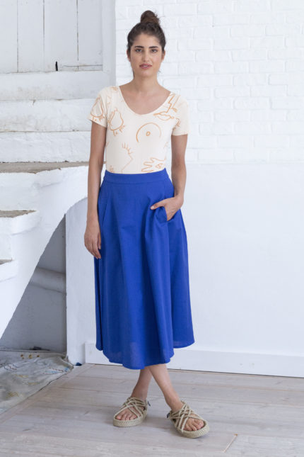 laurel skirt mazarine blue front
