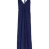 Suite13 maxi tencelové šaty daphne dark blue