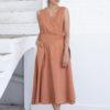 Suite13 zavinovací šaty nasir brandy se lnem