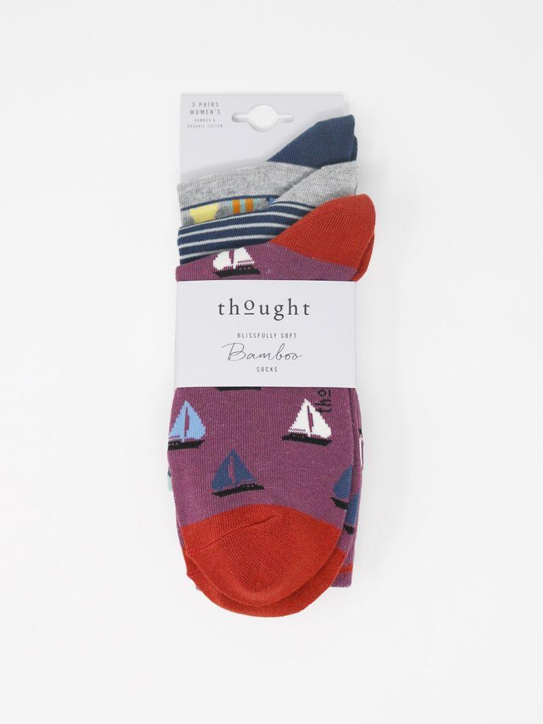 Thought dárkové trojbalení dámských ponožek hope nautical