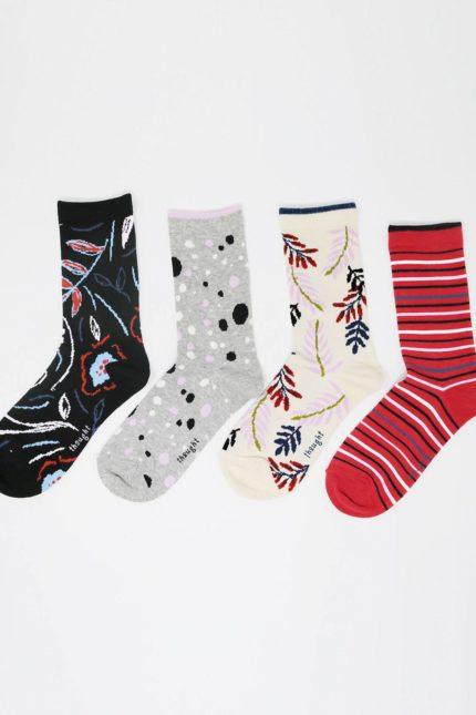 Thought dámské dárkové balení ponožek letitia floral