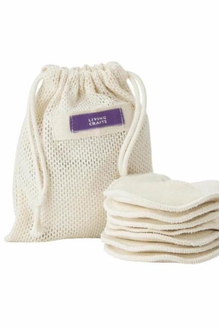 Living Crafts odličovací tampónky india z bio bavlny