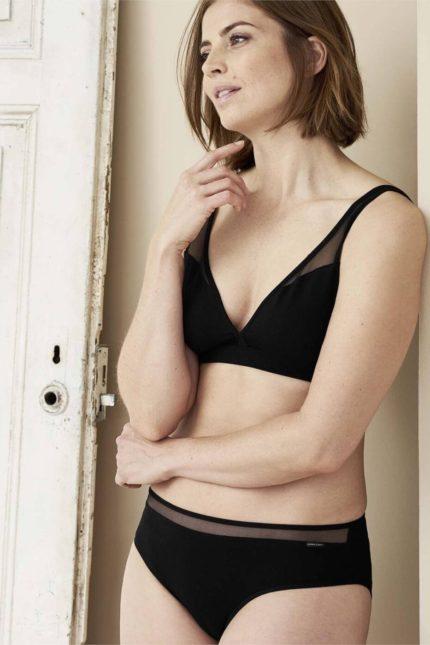 Living Crafts kalhotky isalie černé z bio bavlny