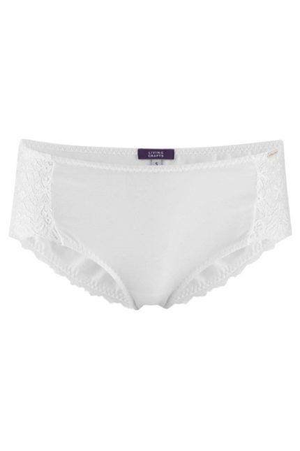 Living Crafts kalhotky evana bílé z bio bavlny