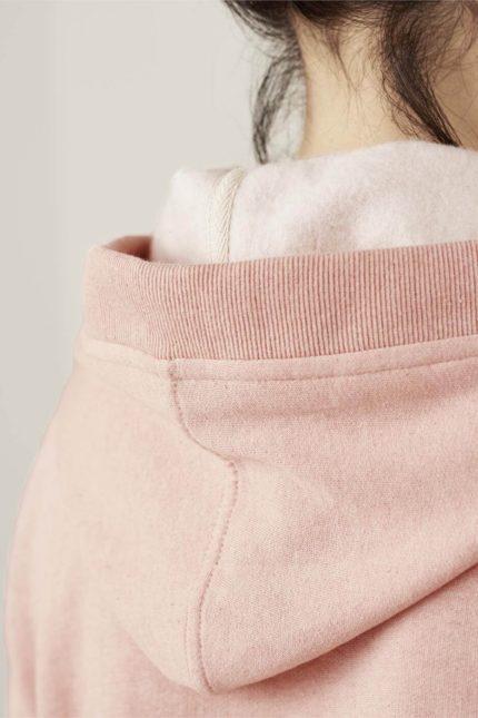 Living Crafts dámská mikina flora růžová z bio bavlny