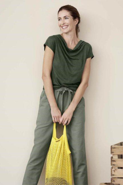 Living Crafts síťovka grenoble 1 žlutá z bio bavlny