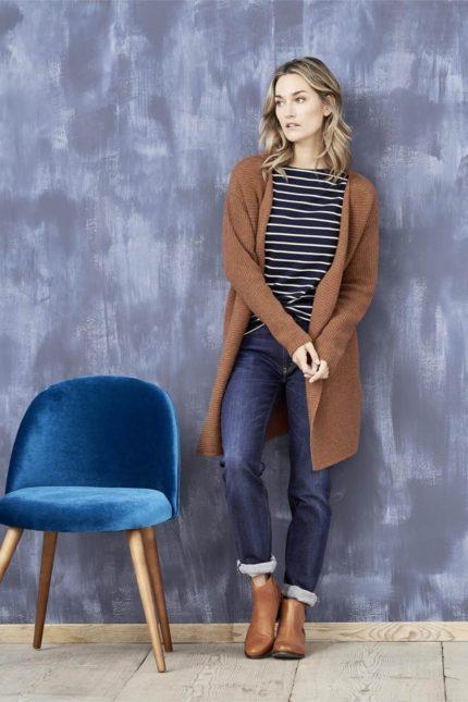 Living Crafts džíny donna dark blue z bio bavlny