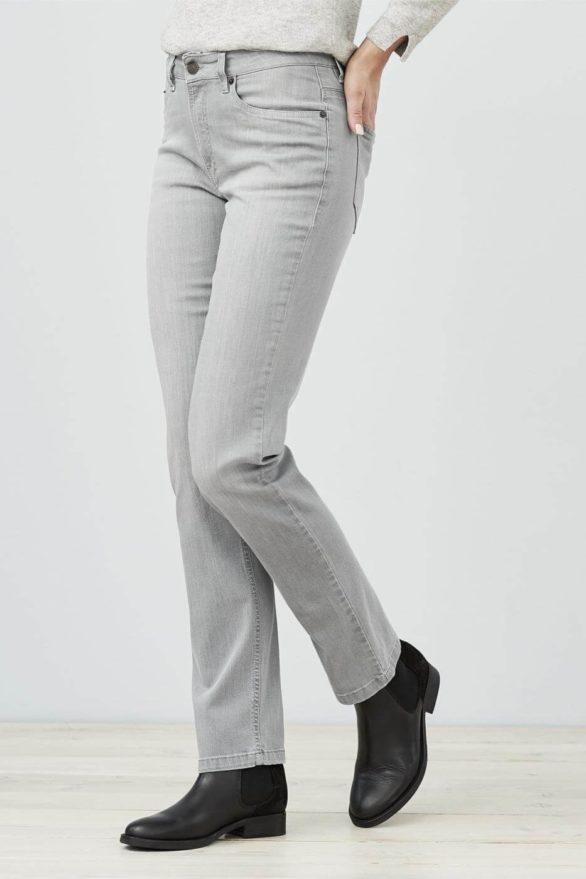 Living Crafts džíny donna grey z bio bavlny
