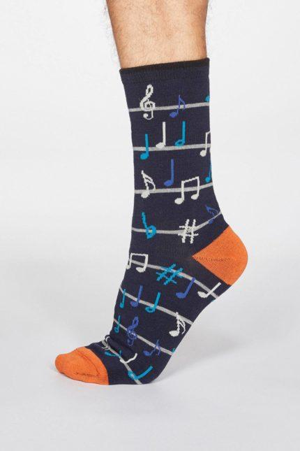 Thought pánské bambusové ponožky luis music tm. modré