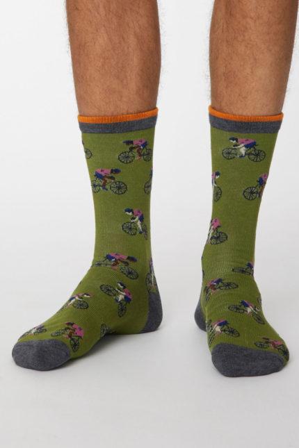 Thought pánské bambusové ponožky garra tm. modré
