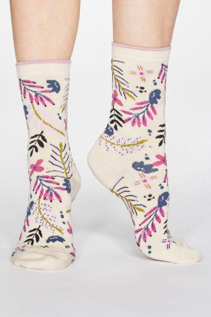 Thought dámské bambusové ponožky nelly krémové