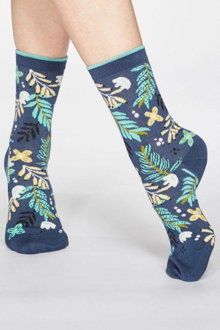Thought dámské bambusové ponožky nelly modré