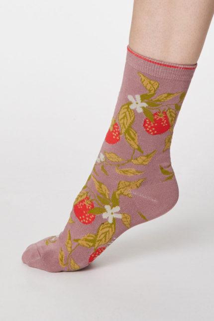 Thought dámské bambusové ponožky frutta modré