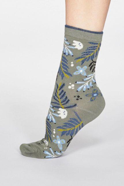 Thought dámské bambusové ponožky nelly zelené