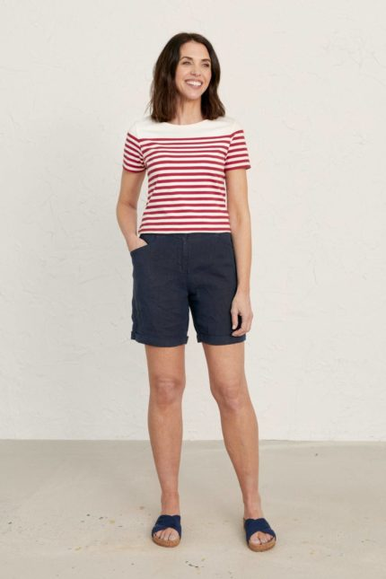 Seasalt Cornwall top sailor mini fireglow