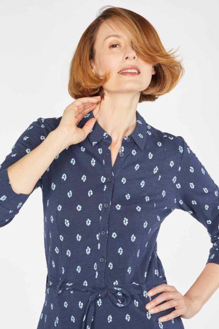 Thought košilové šaty romeshka z bio bavlny