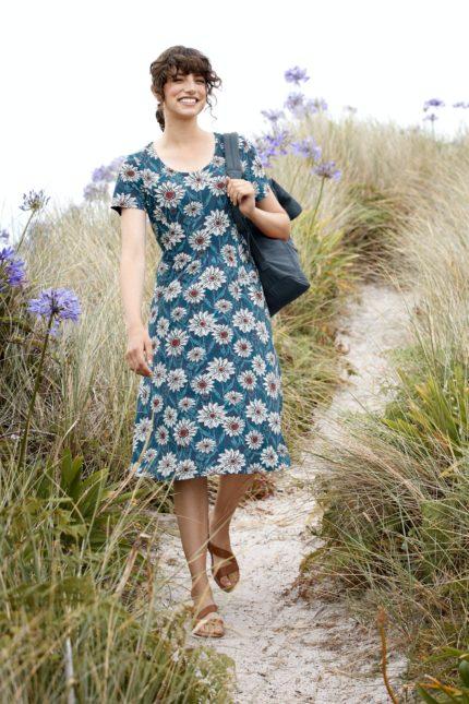 Seasalt Cornwall Šaty enor daisies z bio bavlny