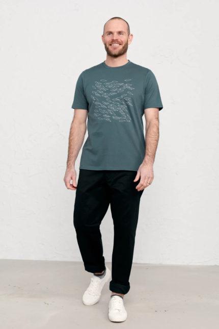 Seasalt Cornwall pánské tričko midwatch shoal z bio bavlny