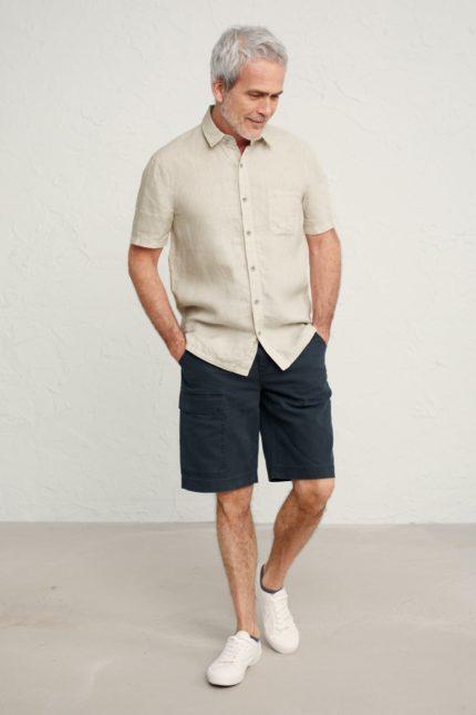 Seasalt Cornwall pánská lněná košile bootlegger