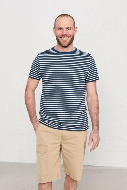 Seasalt Cornwall pánské tričko rowing yacht z bio bavlny