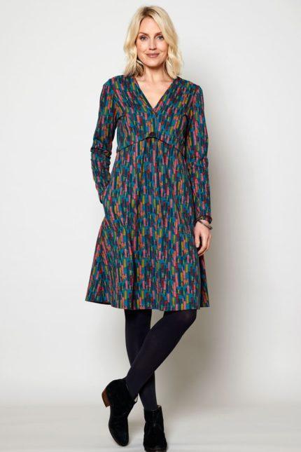 Nomads Šaty button peacock z bio bavlny