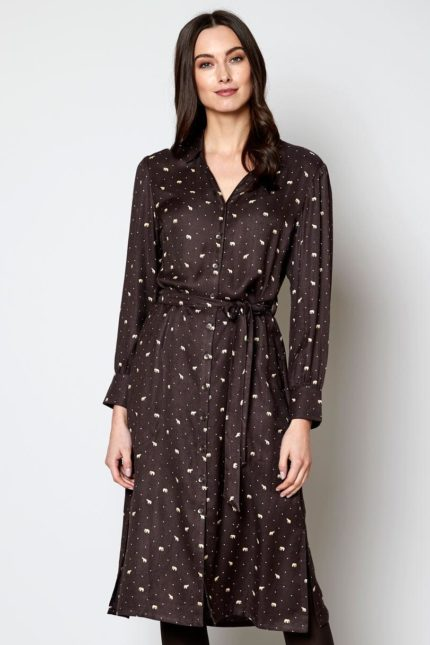 Nomads košilové šaty daywear chocolate
