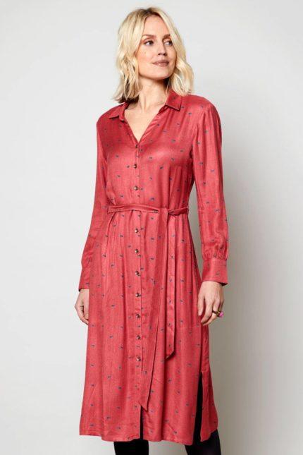 Nomads košilové šaty daywear coral