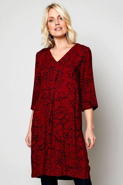 Nomads tunikové šaty pleat fig