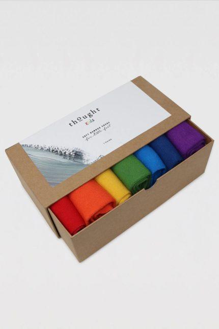 Thought dárkové balení dětských ponožek colours of the rainbow kids