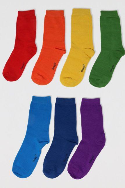 Thought dárkové balení dětských ponožek colours of the rainbow baby