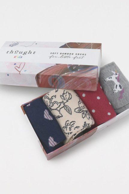 Thought dárkové balení dětských ponožek lettie unicorn baby