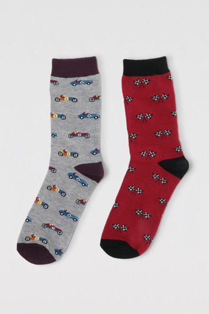 Thought dvojbalení pánských ponožek jacques racing car