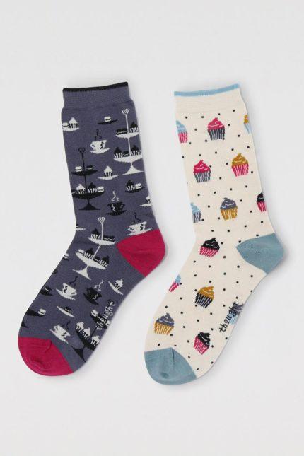 Thought dárkové dvojbalení dámských ponožek delphie afternoon tea