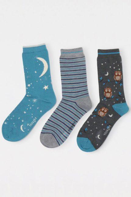 Thought dárkové trojbalení dámských ponožek river night